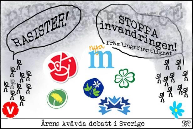 Den kvävda debatten i Sverige.