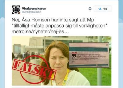 Åsa Romsons (mp) verklighet