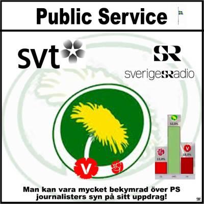 #mpPublicService - #rödgröntPublicService - Någon som tror att det inte påverkar rapporteringen!???