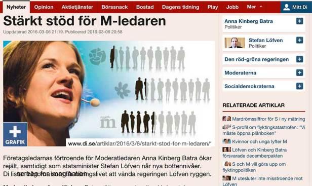 Det går bra för Anna Kinberg Batra - och dåligt för Stefan Löfvén
