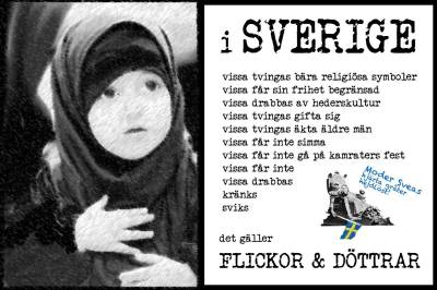 Flickor sviks i Sverige! Politiker saknar civilkurage! SVT sanktionerar religiöst förtryck av flickor.