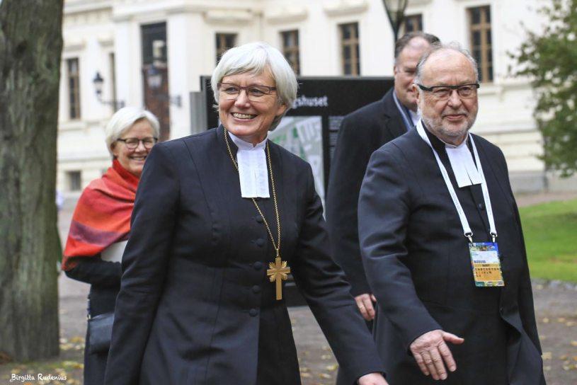 Wanja och Antje - fd fackbas och ärkebiskopen