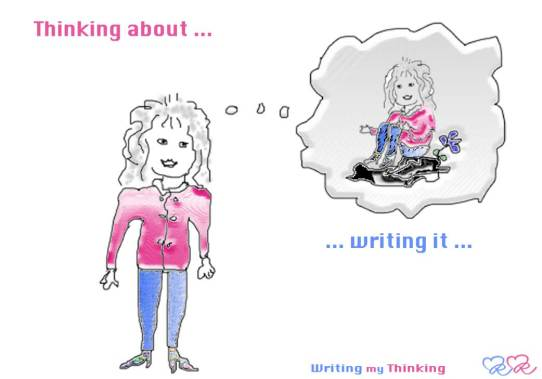 I am writing my thinking.