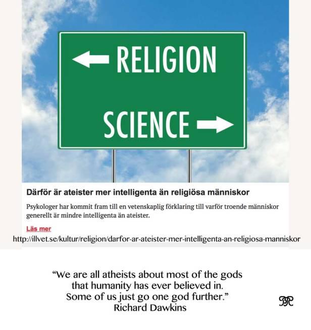 Därför är ateister mer intelligenta än religiösa människor