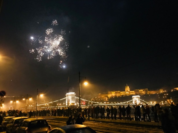 Happy New Year! 2018 Chain Bridge, Budapest.