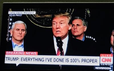 Trump: Allt jag gjort är 100% korrekt.