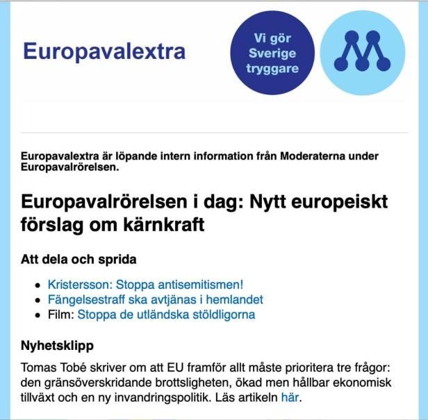 Moderat politik i #EUval