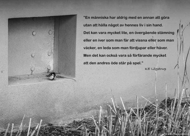 Citat Lögstrup - en favorit.