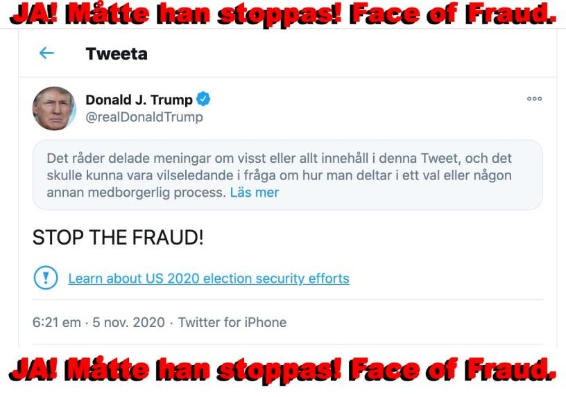 realDonald Trump - Face of Fraud