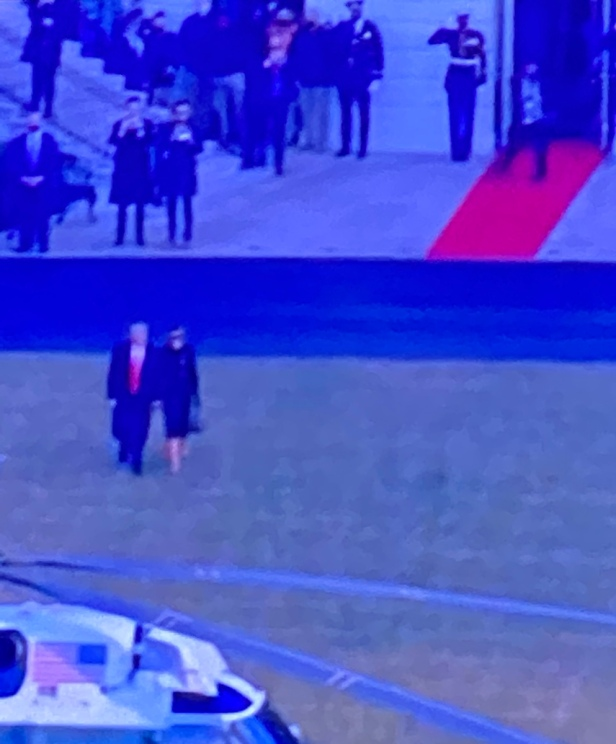 #realDonaldTrump leaving at last!