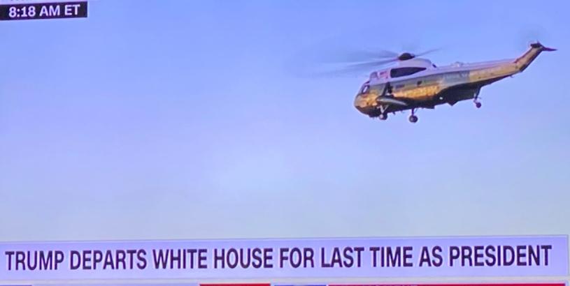 #realDonaldTrump leaving WH at last!